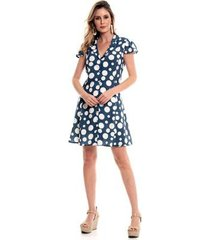 vestido bisô chemise poá feminino