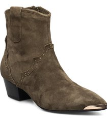 boot shoes boots ankle boots ankle boots with heel grön sofie schnoor