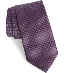 men's nordstrom men's shop kartel geometric silk tie, size regular - purple