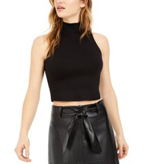 bar iii bodycon mock-neck cropped tank top, created for macy's
