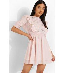 petite broderie mini jurk, light pink