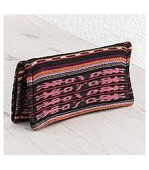 recycled cotton wallet, 'solola geometry' (guatemala)
