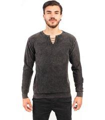 blusa algodão fino tricoport cadarço grafite
