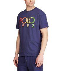 camiseta azul navy-multicolor polo ralph lauren