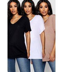maternity 3 pack ultimate v neck t shirt, multi