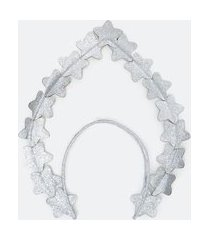 tiara carnaval estrelas metalizada | accessories | prata | u