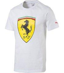 camiseta puma scuderia ferrari big shield masculina