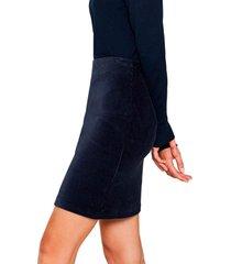falda casual azul esprit