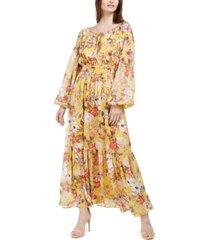 inc petite printed peasant dress, created for macy's