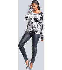 byxor, skinn framtill och jerseybaktill alba moda marinblå