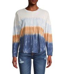 madewell women's delancy dip-dye long-sleeve t-shirt - lighthouse blue - size xs