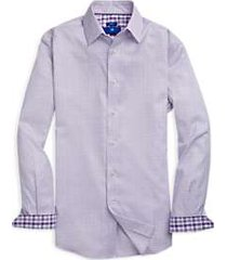 egara purple diamond pattern sport shirt