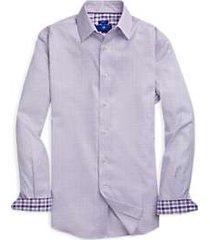 egara purple diamond pattern sport shirt