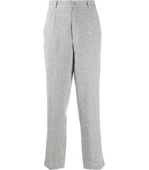 forte forte tweed tailored trousers - blue
