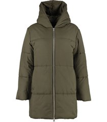 a.p.c. hooded puffer jacket