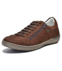 sapatênis bmbrasil de zíper  marrom chocolate 86004