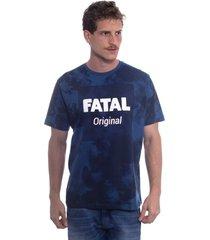 camiseta fatal especial estampada original azul marinho