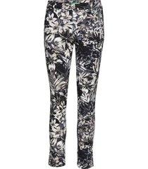 chino filetto flower byxa med raka ben multi/mönstrad please jeans