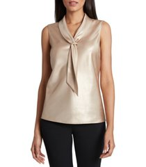 tahari asl metallic sailor top