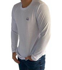 camiseta básica manga larga blanca fist hombre
