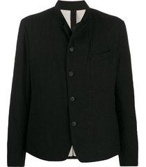 forme d'expression high collar blazer - black