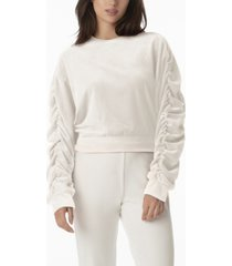 juicy couture women's ruched sleeve top