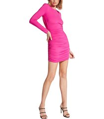 women's bardot elena long sleeve back cutout body-con dress