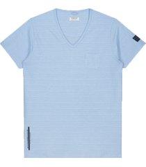 dstrezzed t-shirt v-hals lichtblauw rf 202516/625