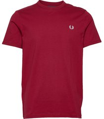 ringer t-shirt t-shirts short-sleeved röd fred perry