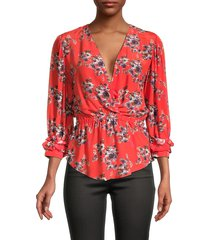 iro women's posti floral-print top - red - size 34 (2)