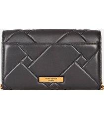 kurt geiger london women's kensington quilt wallet - black