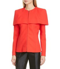 women's givenchy zip front wool crepe cape jacket