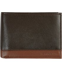 perry ellis men's colorblocked leather passcase wallet