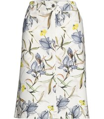 skirt short woven fa knälång kjol vit gerry weber edition