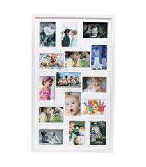 painel quadro multifotos 15 fotos 10x15 c/ profundidade moldura caixa branco