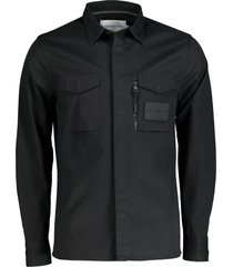 calvin klein overhemd - slim fit - zwart
