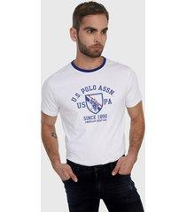 camiseta blanco-azul us polo assn