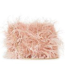 zelda feather baguette crossbody bag
