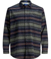plus size overhemd gestreept