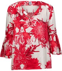 blus big flower blouse