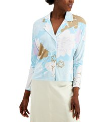 alfani floral-print blouse, created for macy's