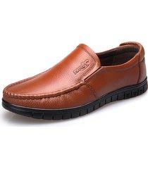 uomo scarpe in pelle vera morbida slip-on di stile business e casual