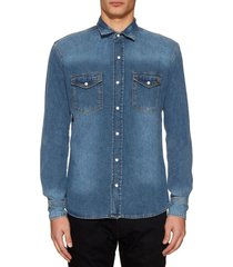 camisa azul liguria jean train