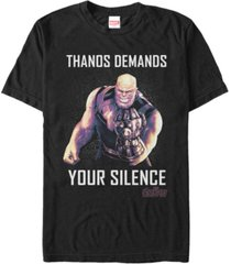 marvel men's avengers infinity war thanos demands silence short sleeve t-shirt