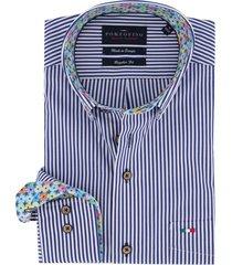 portofino overhemd marine strepen button down