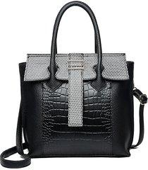 coccodrillo in pelle pu modello borsa a tracolla casual solid borsa