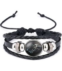 pulsera manilla game of thrones cuero ajustable 605