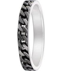 anello in argento 925 rodiato e rutenio per uomo