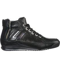 scarpe sneakers alte donna in pelle