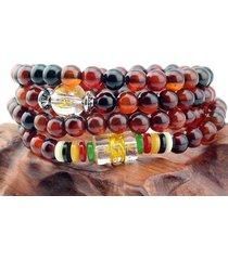 "delicate tibetan om mani 108 6mm agate gemstone prayer beads mala necklace -27"""